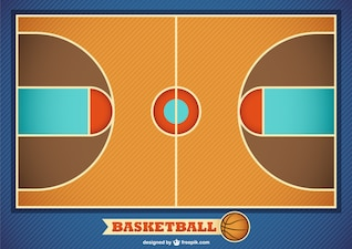 Vector basketball field