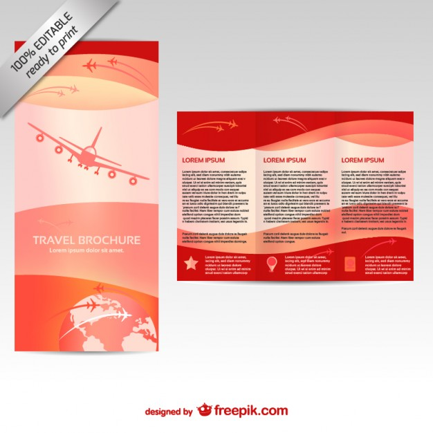 Vector brochure editable mock-up