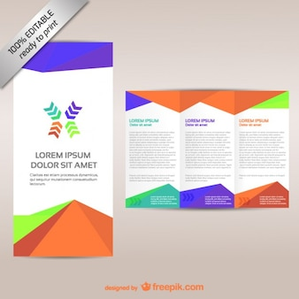 Vector brochure editable tri-fold design