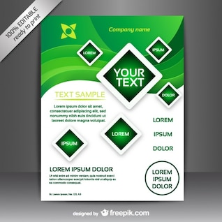 Vector brochure free design