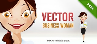 vector business woman character