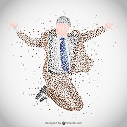 Vector businessman abstract design