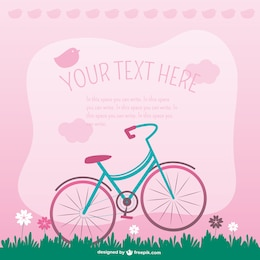 Vector bycicle sweet illustration