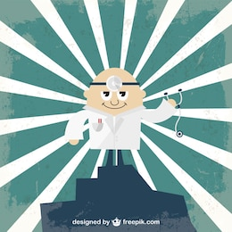 Vector cartoon doctor illustration