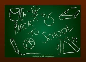 Vector chalkboard doodle