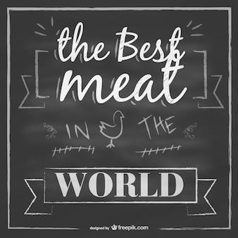 Vector chalkboard meat design