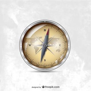 Vector compass illustration