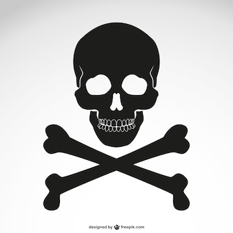 Vector crossed bones skull icon