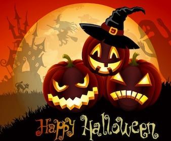 vector cute halloween illustration