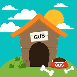 Vector dog house free illustration