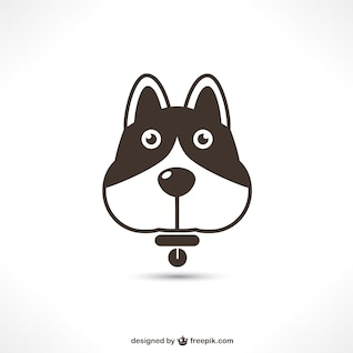 Vector dog icon