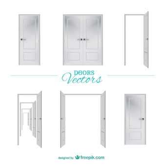 Vector doors graphic elements