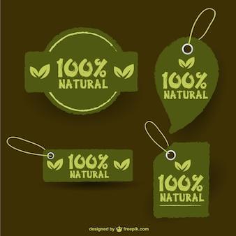 Vector eco retro stickers