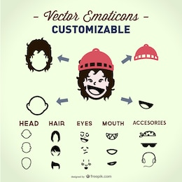 Vector face elements template