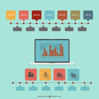 Vector flat infographic technology design