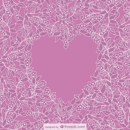 Vector floral heart design