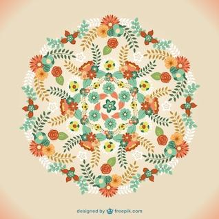 Vector floral mandala ornament