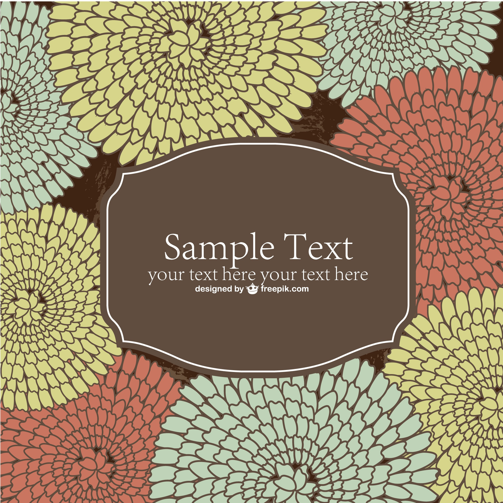 Vector flowers background template