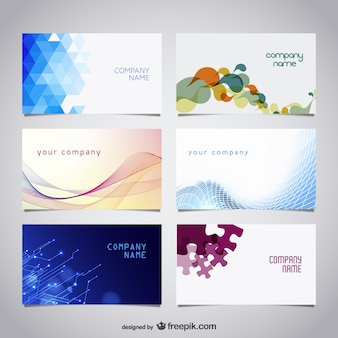 Vector free business cards kit