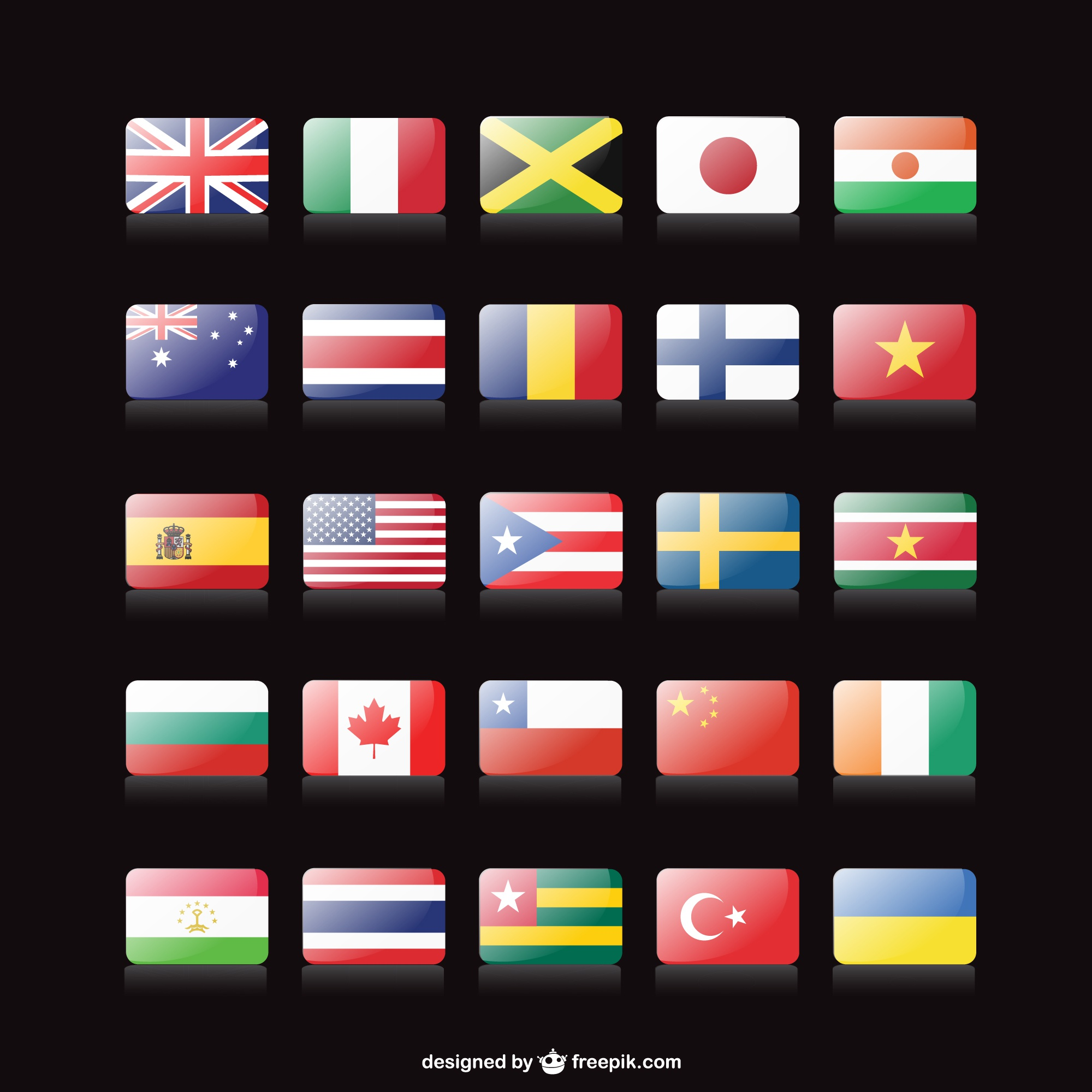 Vector free flags collection