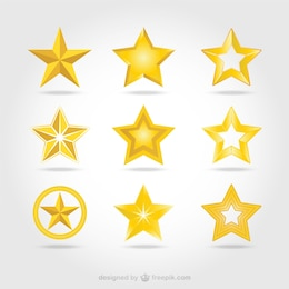 Vector golden stars icons