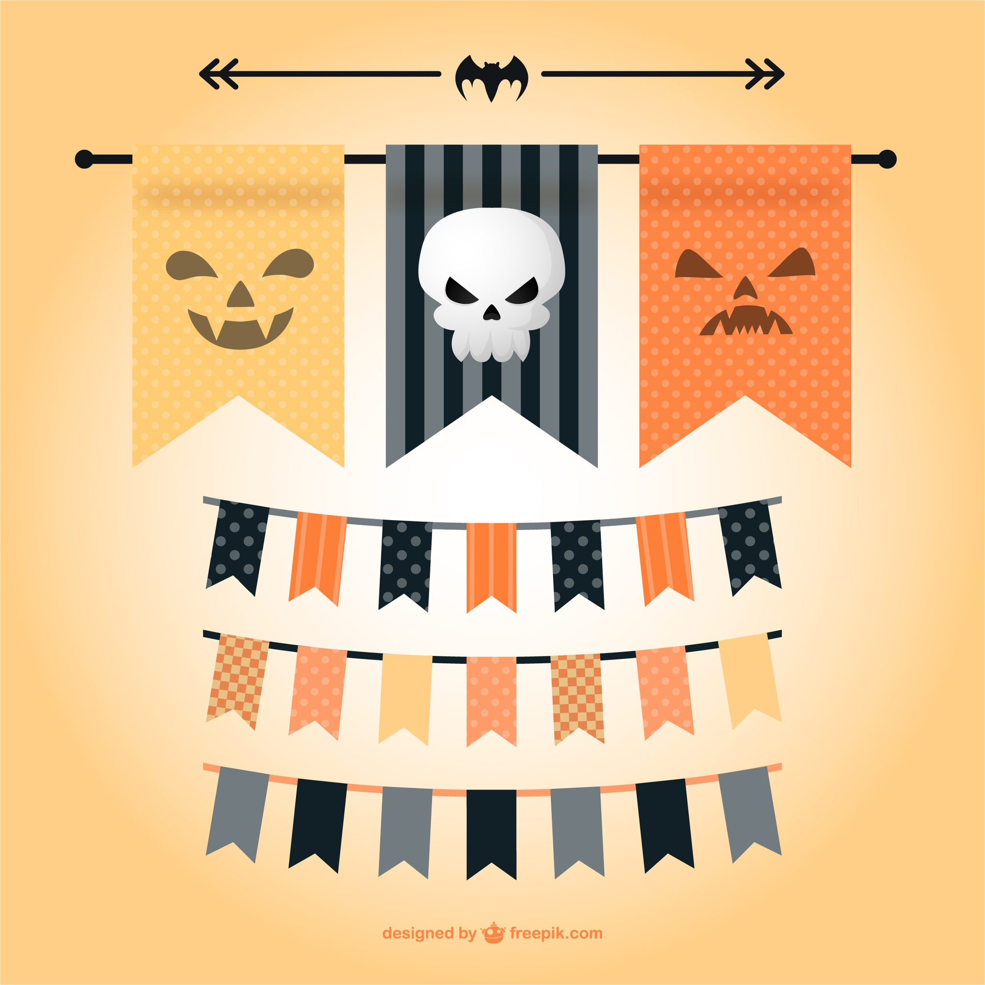 Vector Halloween garlands