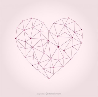 Vector heart geometric design