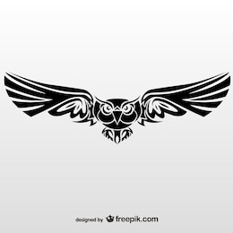 Vector illustration of tribal owl