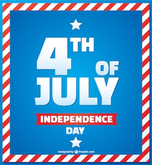 Vector Independence day free design