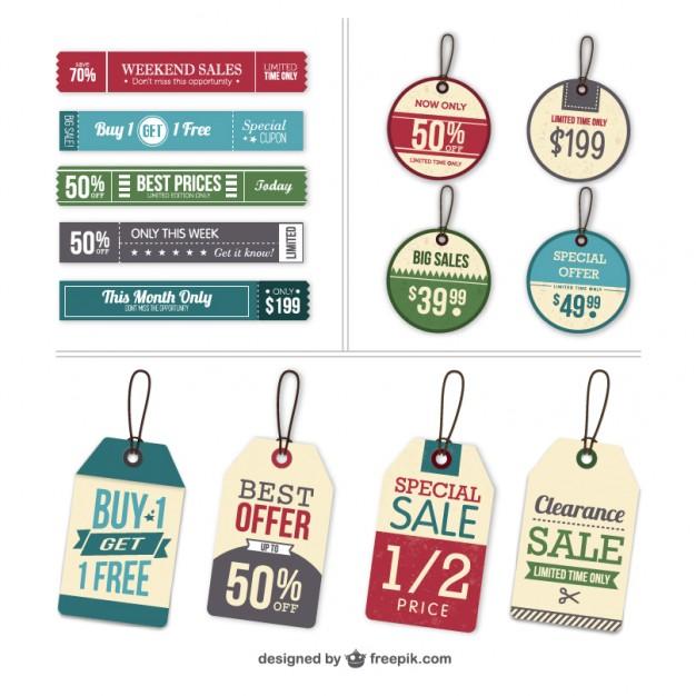 Vector labels and tags set