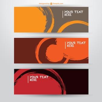Vector labels paint brush design