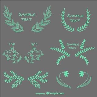 Vector leaves frames designs