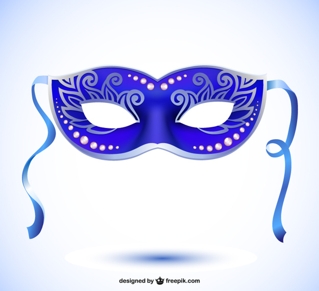 Vector mask carnival style