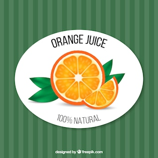 Vector orange juice retro template