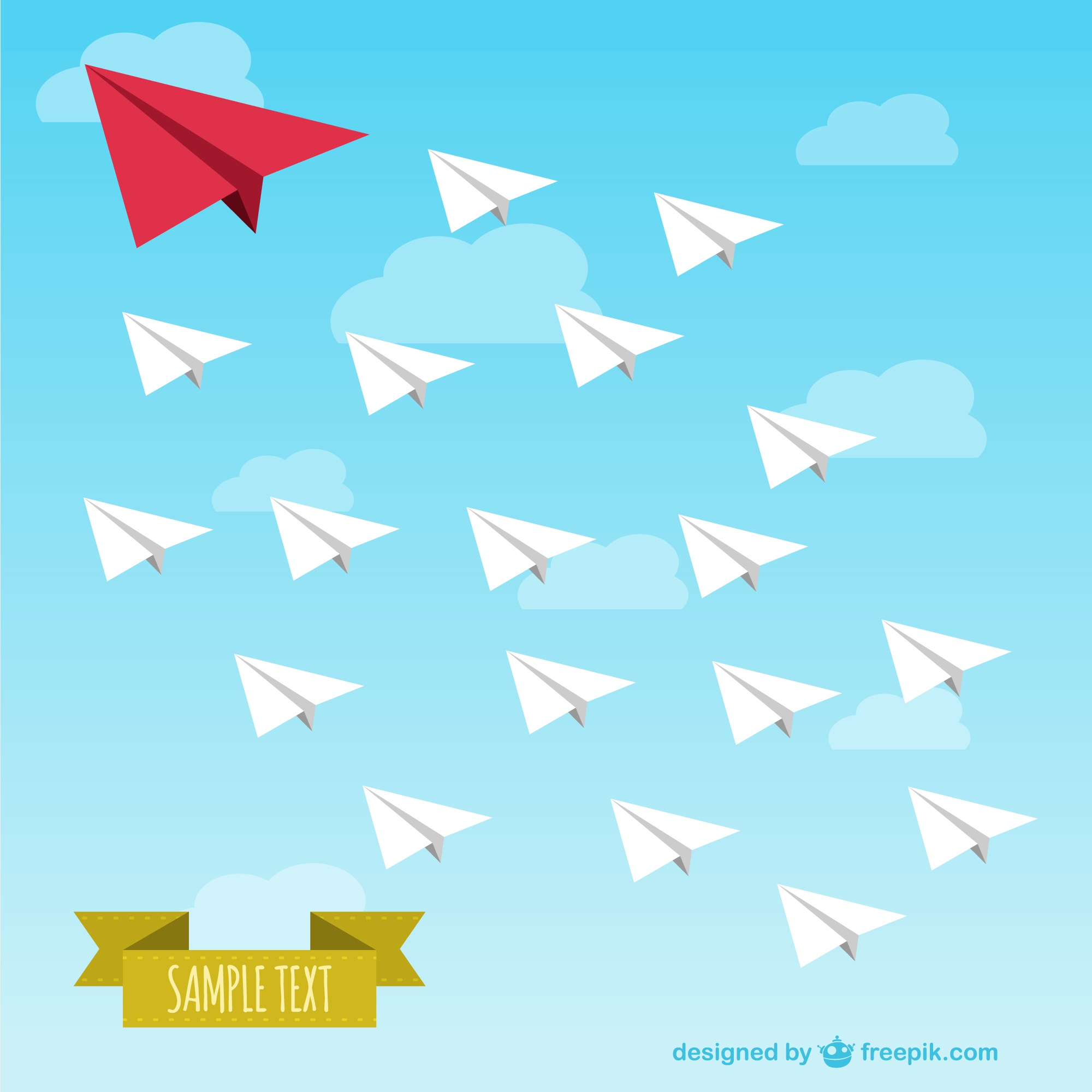 Vector paper airplanes free illustration