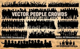 Vector people crowds | All Silhouettes