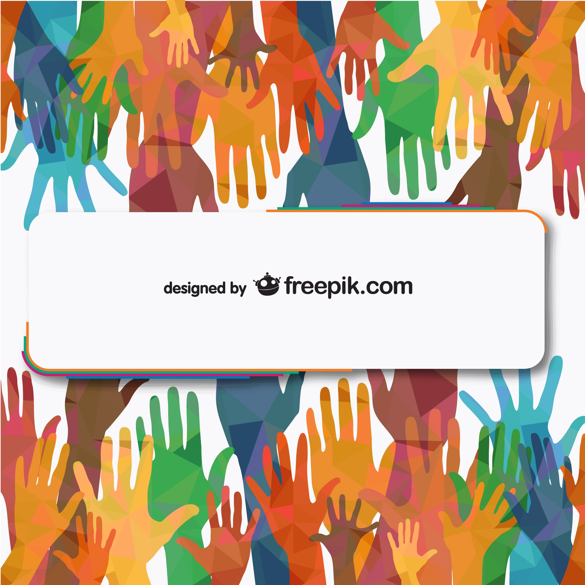 Vector people hands reaching free illustration