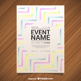 Vector poster geometric abstract style