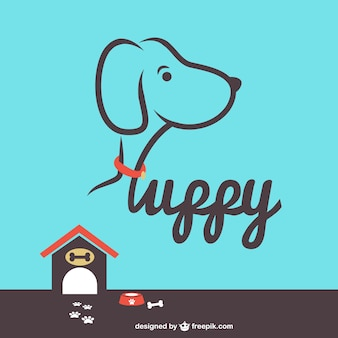 Vector puppy house free illustration
