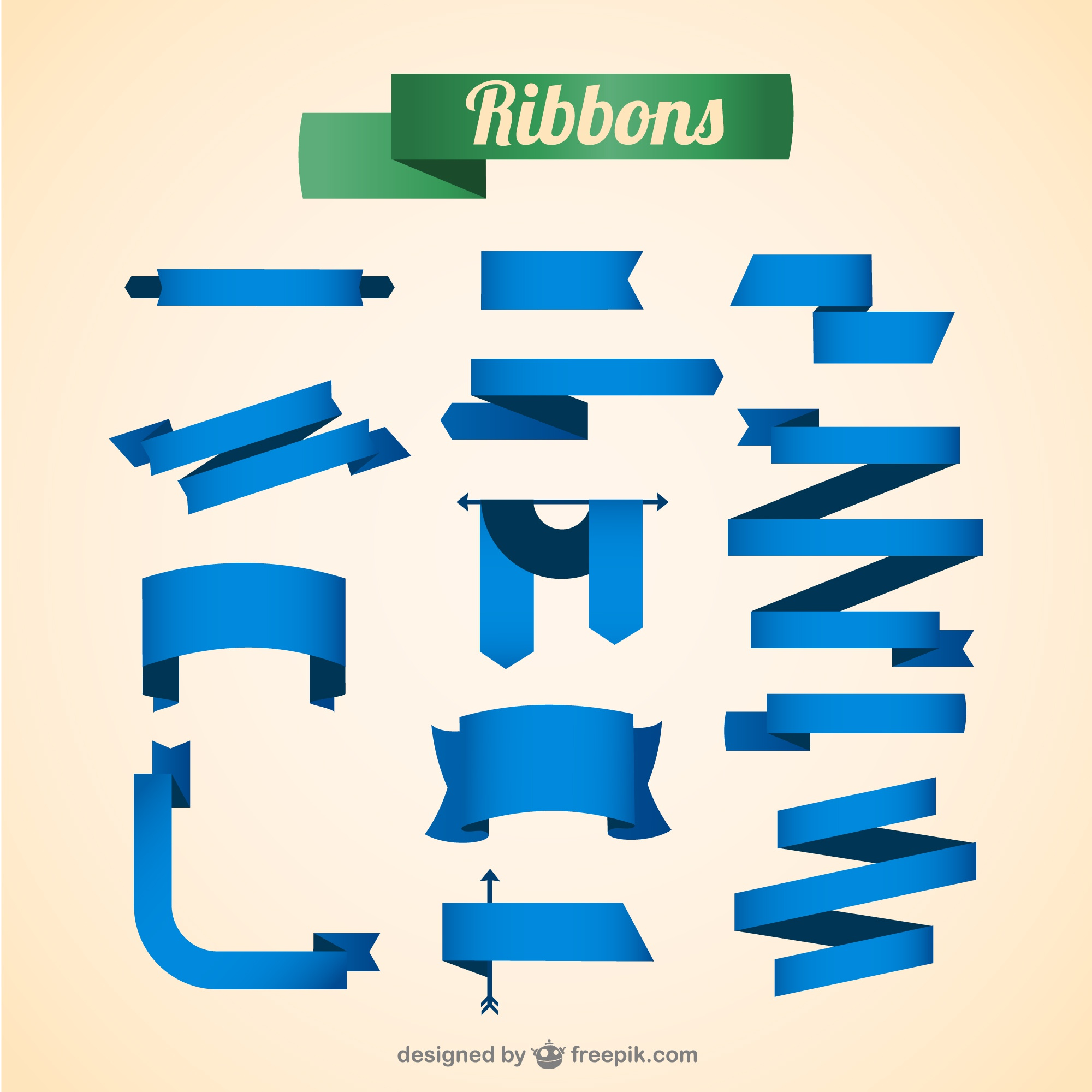 Vector ribbons free for download