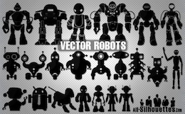 Vector Robots Silhouettes