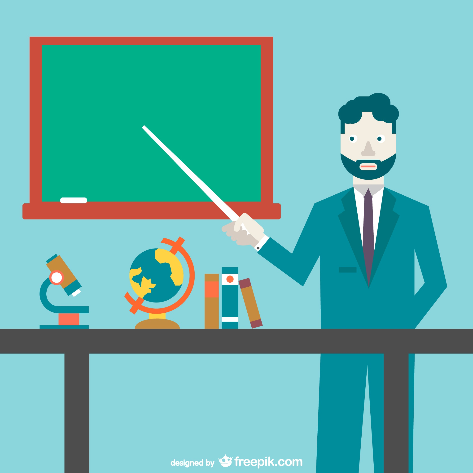 Vector science teacher illustration