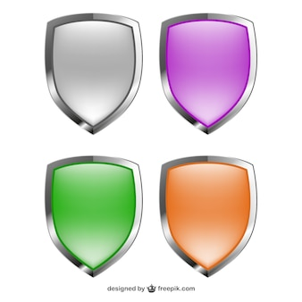 Vector shields glossy collection