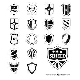 Vector shields heraldic elements