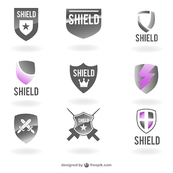 Vector shields logo templates