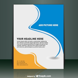 Vector template mock-up design