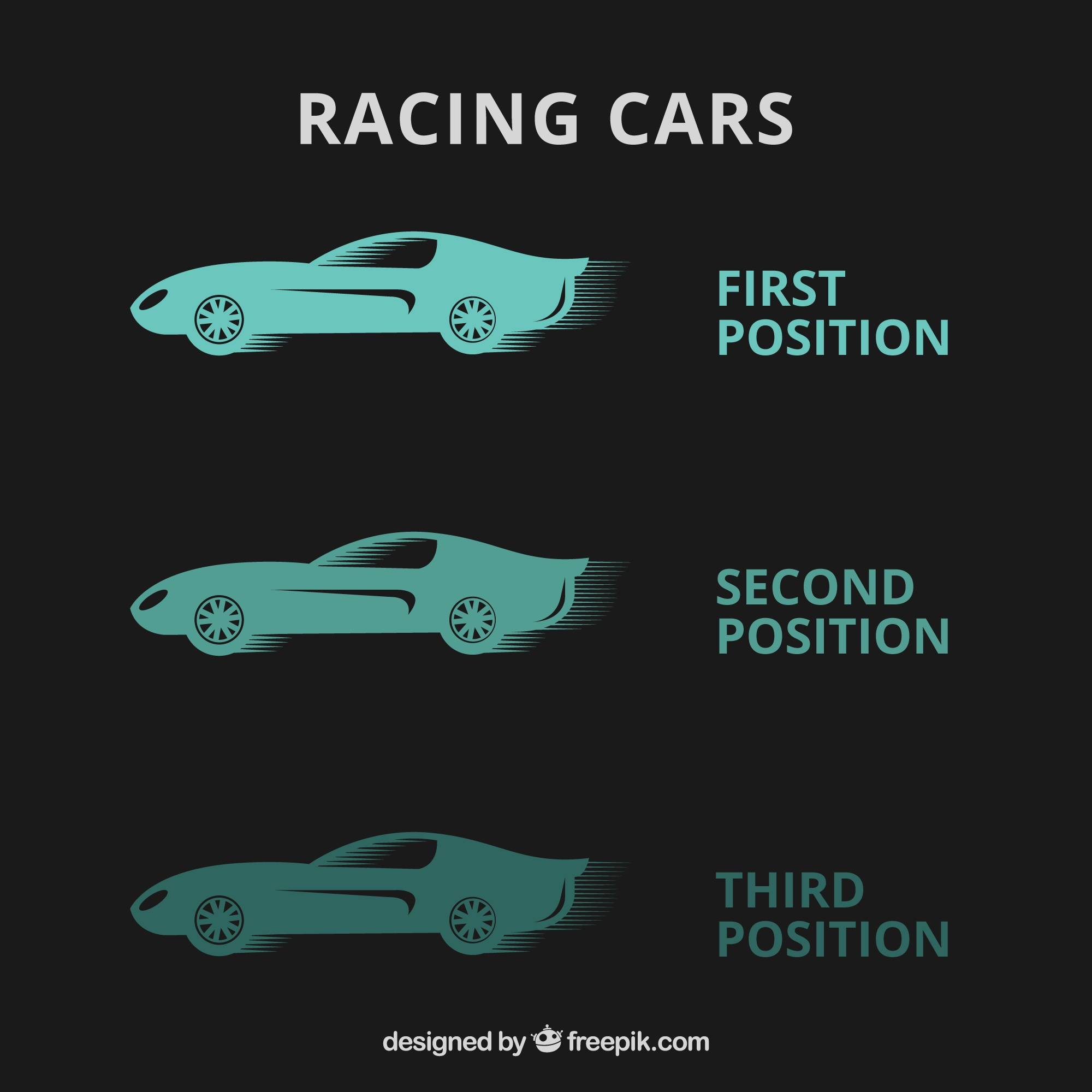 Vector template with racing cars