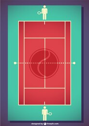 Vector tennis field