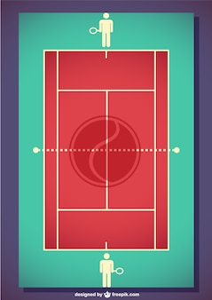 Vector tennis field