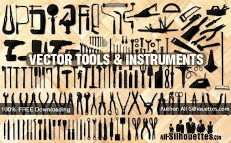Vector tools, instruments, equipment | All Silhouettes